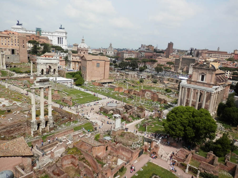 Le forum vu de la colline Palatine.