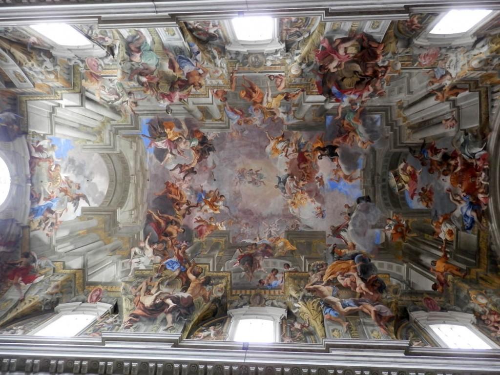 Le plafond en trompe-l'oeil de l'église Saint-Ignace-de-Loyola (Sant'Ignazio di Loyola a Campo Marzio en italien).