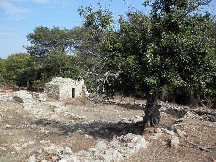 Les ruines d'un monastère, sur les hauteurs d'Akamas.