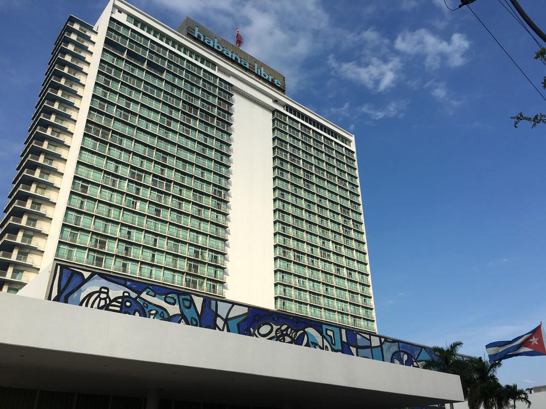 """Le """"Habana libre"""", célèbre hôtel de la ville."""