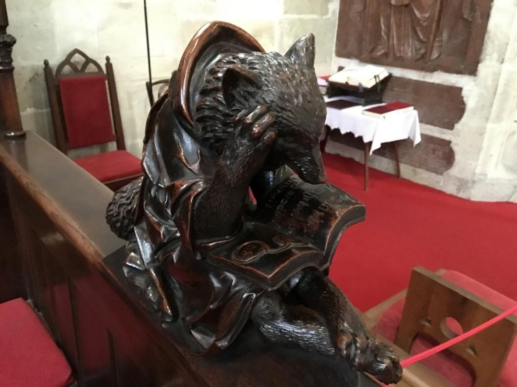 Une mignonne sculpture vue à l'intérieur.