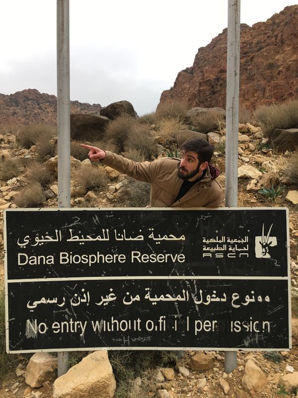 L'entrée de la réserve est payante, mais est incluse dans le Jordan Pass. De toute façon, nous n'avons vu personne.