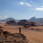 Première journée de marche dans le désert de Wadi Rum (jour 6)