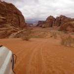 Deuxième jour de marche dans le désert du Wadi Rum